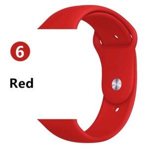 NEW[BAND] RED Sport Silicone For Apple Watch